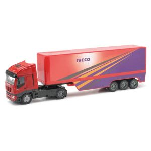 New Ray Camion Iveco Stralis Electroplated Conteneur