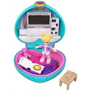 Mattel POLLY POCKET - Le Salon de Polly - Coffret à thème incluant une Mini-Figurine 2,5 cm & des accessoires