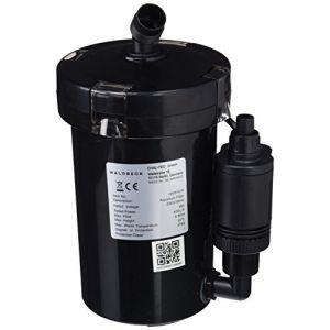 Waldbeck Clearflow 6UV - Filtre externe pour aquarium, Filtrage en 4 parties, Capacité maximale de 75 litres, Moteur économique 6W, Jusqu'à 400 litres/heure