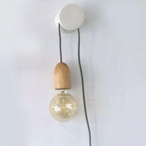 Suspension à accrocher douille en bois (L.3m)