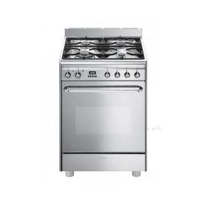 Smeg CP60IX9 - Cuisinière Classique induction 4 zones avec four électrique