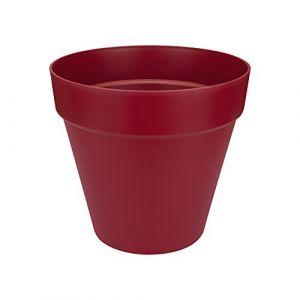 Loft URBAN Pot de fleur rond - 30 cm - Fruits rouges - Livré avec réservoir d'eau - Fabriqué en plastique - Facile à nettoyer - Résiste aux chocs