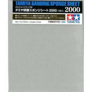 Tamiya 300087170 – éponge de ponçage Grain 2000, 114 x 140 mm