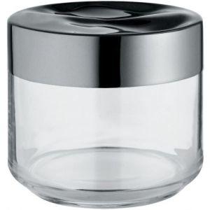 Alessi A di LC07 Julieta Boîte de cuisine en verre avec couvercle en acier inoxydable 18/10 - 50 cl