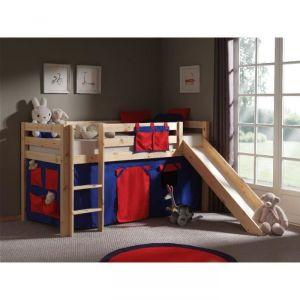 Vipack Furniture Lit Pino bicolore avec toboggan pour enfant 90 x 200 cm