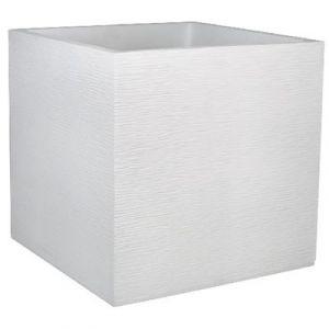 Eda Plastiques Pot carré Graphit blanc cérusé 57 L Eda