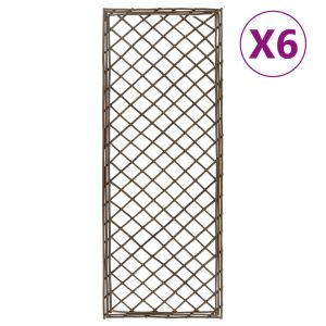 VidaXL Treillis de jardin 6 pcs 30x170 cm Saule