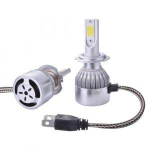 XC Source Xcsource 2pcs Ampoule Lampe Xénon Hid Halogène H7 Phare Voiture Led 10000lm 55w Ventilateur De Refroidissement 6000k Blanc Ld974