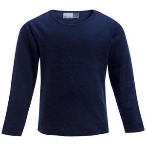 Promodoro T-shirt Manches Longues Enfants, 140, bleu marine