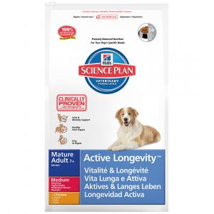 Hill's Science Plan Médium Poulet Active Longevity - Croquettes pour chien adulte 12 kg