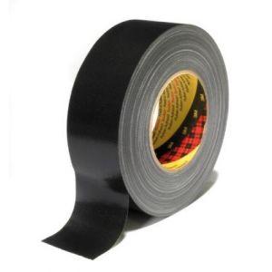 3M 389S50 - Ruban adhésif toilé 389, 50 mm x 50 m, noir