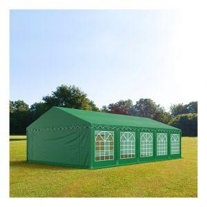 Intent24 Tente de réception 5 x 10 m PVC vert foncé