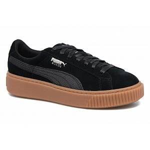 Puma Suede Platform Animal, Sneakers Basses Femme, Noir Black-Silver 01, 41 EU
