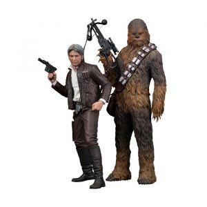 Kotobukiya Pack 2 statuettes Star Wars Episode VII : Han Solo & Chewbacca - Pack 2 statuettes Star Wars Episode VII - Han Solo & Chewbacca - 20/23 cm