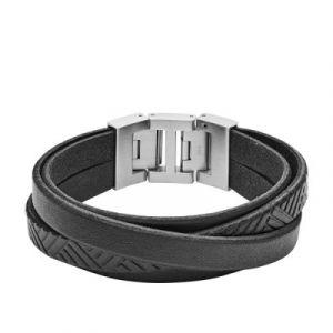 Fossil Bracelet Vintage Casual JF02998040 - Bracelet Acier Argent Homme