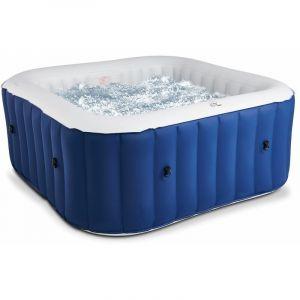 Oviala Spa gonflable carré 6 places LITE - (L)185 x (l)185 x (H)68 cm - Bleu marine - Bleu marine