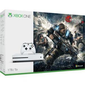 Microsoft Xbox One S (1 To) + Gears of War 4
