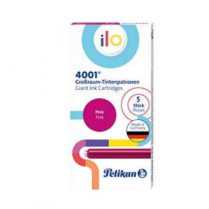 Pelikan 301510 Lot de 5 cartouches d'encre grand format 4001 ilo, rose