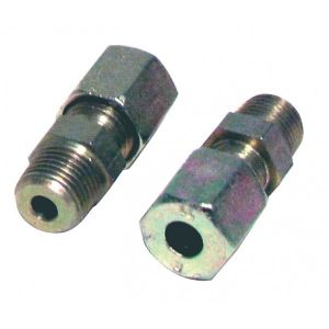 Diff Raccord à bague M1/8 - tube 6mm (2pcs) - Acier - M1/8 - tube 6mm (2pcs)