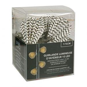 SEMA Guirlande Electrique Origami - Gouttes Imprimées - x10