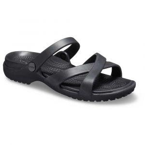 Crocs Meleen Crossband Sandal Women, Bout Ouvert Femme, Noir