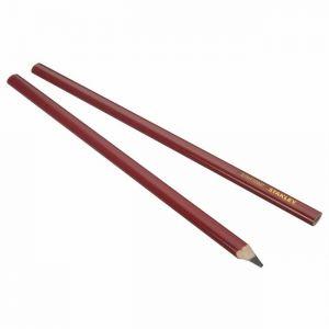 Stanley Crayon de charpentier 30cm corps rouge,
