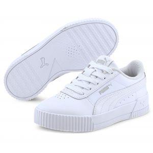 Puma Carina L PS, Baskets Fille, White White-Gray Violet, 32 EU
