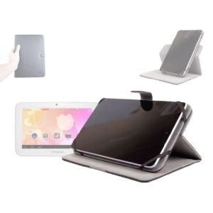 """Duragadget Housse rotative 360° en effet cuir luxueux pour tablette Polaroid Rainbow 7"""""""