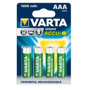 Varta 4 piles rechargeables AAA LR03 Power