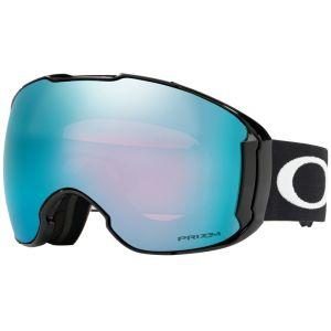 Oakley Airbrake Masque de Ski Mixte Adulte, Jet Black/Prizm snow Sapphire Iridium et Prizm HI PINK