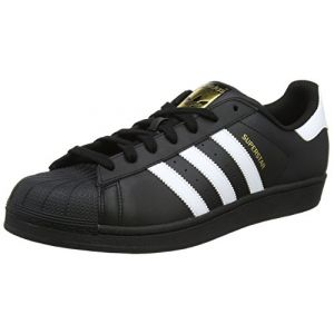 Adidas Superstar, Baskets Basses Homme, Noir (Core Black/FTWR White/Core Black), 45 1/3 EU