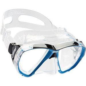Cressi Masque de plongée Sous Marine pour Adulte - Big Eyes - Bleu (Transparent/Bleu) - Taille Unique