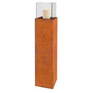 Lynco Colonne porte-bougie fibre céramique rust 25 X 25 X 124 cm