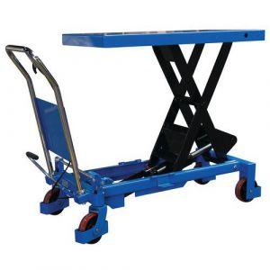 Fimm Table élévatrice manuelle simple ciseaux charge 800 kg Ø roues 127 mm