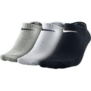 Nike Lightweight No Show 3 Paires de chaussettes- 46-50 Gris/Noir/Blanc