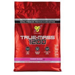 Image de Bsn nutrition True-mass 1200 15 servings fraise