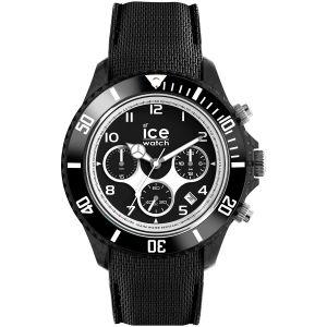 Ice Watch Ice-Watch - ICE dune Black - Montre noire pour homme avec bracelet en silicone - Chrono - 014222 (Extra large)