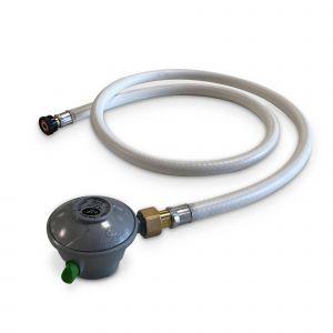 Alice's Garden Kit Tuyau Flexible de gaz 1,5 m à Embouts mécaniques + Détendeur Quick-on Propane 37mbar 1,5kg/h, raccord Rapide – Normes NF