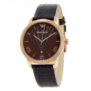 Emporio Armani AR1613 - Montre pour homme avec bracelet en cuir