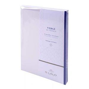 G. Lalo Georges Lalo 25150L Lot de 10 ensembles cartes C6 300 g avec Enveloppe 17 x 12 x 1,60 cm Extra Blanc
