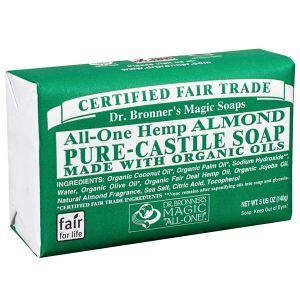 Dr bronner's Pain de savon amande 140 g