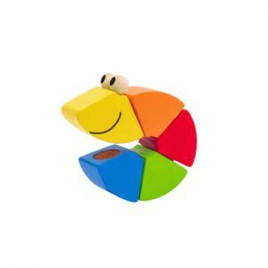 Selecta Jouet chenille Freddi, bois multicolore