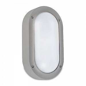 Led C4 Leds C4 - Applique - Plafonnier oval extérieur Basic IP65 L22 cm - Gris