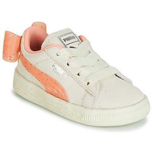 Puma Baskets basses enfant INF SUEDE BOW JELLY AC.WHI Beige - Taille 19,20,21,22,23,24,25,26,27