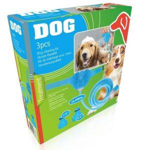 Kit de toilettage Tuyau 250 cm + adaptateurs + gant Pour chien