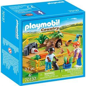Playmobil Petits animaux dans un enclos extérieur 70137