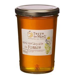 Terre de miel Miel toutes fleurs liquide bio France 500g
