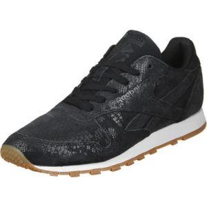 Reebok Cl LTHR Clean Exotics, Chaussures de Gymnastique Femme, Noir (Black/Chalk/Gum), 38 EU