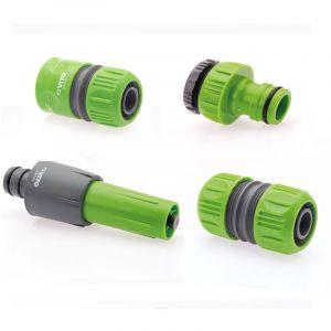 Vito Garden Kit arrosage 4 pieces diam 25-1 lance multi jet + nez de robinet + raccord rapide + embout raccord