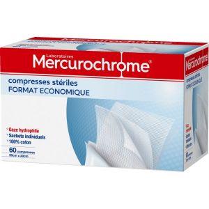 Mercurochrome Compresse sterile 20x20 - boite de 60